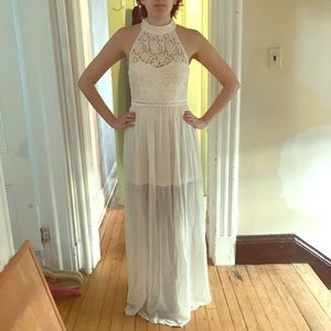 Lace Maxi Dress for Prom NWT